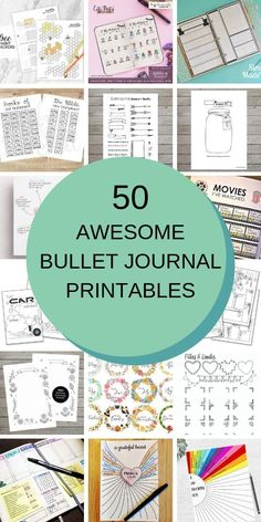 No time (or creative energy) to replicate all of the amazing bullet journal layouts you've been drooling over? Just cheat! Check out these bullet journal printables that you can use to fill your BuJo!