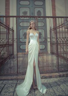 Deep+V-Neck+Backless+Wedding+Dress | ... Long Sleeves Lace Sheath High Slit Cheap Backless Wedding Dresses