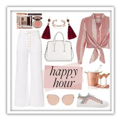 """Happy hour"" by fadyadea ❤ liked on Polyvore featuring River Island, Sophia Webster, A.L.C., French Connection, Topshop, Charlotte Tilbury, Mark & Graham and Kate Spade"