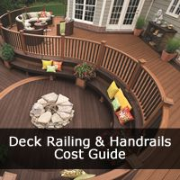 Our Deck Railing Cost Guide breakdowns the deck railing costs and Prices for all types of Deck Railing including Deck Railing Designs such as Curved, Aerial, Cocktail, Glass Balustrade, Baroque Balusters Deck Railings. Also give Handrail Guidelines that your deck will need to follow.