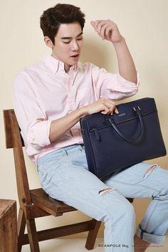 Yoo Yeon Seok for Beanpole Accessories S/S 2015 Asian Men Fashion, Korean Street Fashion, Men's Fashion, Korean Men, Korean Actors, Romantic Doctor, A Werewolf Boy, Yoo Yeon Seok, Japanese Men