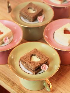 You could serve a little snack with an upside cup and saucer... use cookie cutters to create a little peek-a-boo shape!
