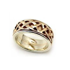 Rings R Us - Celtic Knot Rotating Ring - White, Yellow or Two Tone Gold, £685.00 (http://www.ringsrus.co.uk/celtic-knot-rotating-ring-white-yellow-or-two-tone-gold/)