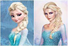 Así severían las princesas deDisney sifueran decarne yhueso