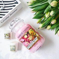 Absolutní hitovka... Kdo by ji neznal Yankee Candle Fresh Cut Roses vonná svíčka #parfumscz http://www.parfums.cz/yankee-candle/