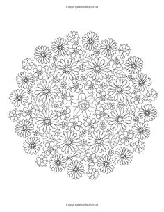 Free Adult Coloring Pages, Flower Coloring Pages, Mandala Coloring Pages, Coloring Book Pages, Printable Coloring Pages, Floral Embroidery Patterns, Embroidery Art, Mandela Patterns, Diy Tie Dye Techniques