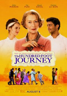 The Hundred-Foot Journey - starring Helen Mirren. Relocating from India to a quiet village in the south of France, chef Hassan Kadam and his family open a restaurant called Maison Mumbai. But when their business starts to thrive, a competing restaurateur launches a war between the eateries.