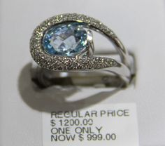 Blue Topaz Ring on sale $999. #Rings #Jewellery #Orangeville Jewelry Rings, Jewellery, Blue Topaz Ring, Retail, Engagement Rings, Store, Stuff To Buy, Products, Fashion