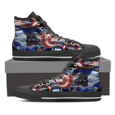 http://mellowstreasures.com/products/captain-america-ladies-high-top-black-tennis-shoes?utm_campaign=social_autopilot&utm_source=pin&utm_medium=pin Recent addition to www.MellowsTreasures.com   Always Free Shipping Anywhere!