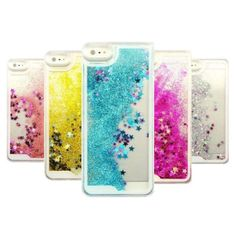 Dynamic Glitter Stars Liquid Case For iPhone 5 5S SE 6 6S 7 Plus Case Coque For Samsung Galaxy S6 S7 Edge A3 A5