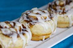 Cinnamon roll muffins - quicker than yeast rolls.  I had trouble with the link, but here is a search at the site where you can search the recipe.  Hope that helps.