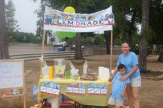 """Carlos took his love for trains and business savvy and applied them to Lemonade Day this year! His mom tells us his story, """"He told me this experience made him realize it takes a lot of work and dedication to put up a new business. Lemonade Stands, Radio Flyer, Teaching Kids, A Table, Trains, Houston, How To Apply, Mom, Business"""