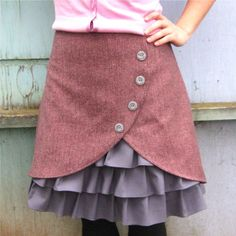 Ruffle + Button skirt - drool, can you picture this in navy? I can.