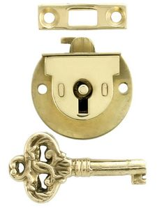 Small Jewelry Box Lock & Key (S-A12)