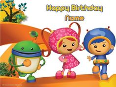 Team Umizoomi Cake Cake From Kroger Milli Bot And Geo