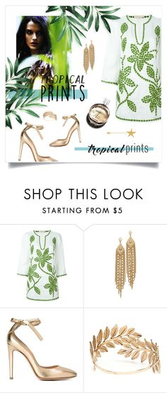 """""""Untitled #772"""" by tjuli-interior ❤ liked on Polyvore featuring Tory Burch, Capwell + Co, Gianvito Rossi, Forever 21, Chanel, Jean-Paul Gaultier, tropicalprints and hottropics"""