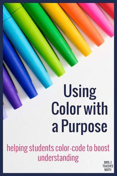 If you teach students, you need to help them learn to color code! These tips and ideas will help your students learn how to take better notes in math and will boost their understanding. It works great in interactive notebooks too! I love to use this with my algebra and geometry students.