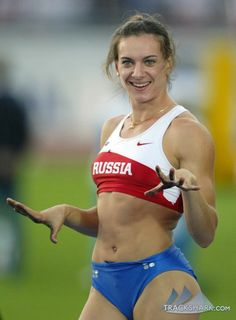 Yelena Isinbayeva - 2 time Oylmpic gold, 3 time World Champion, world record holder Beautiful Athletes, Pole Vault, Sport Body, Female Athletes, Women Athletes, Track And Field, Girls In Love, Athletic Women, Sport Girl