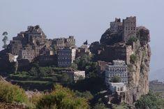 The town of Al Hajjara in Yemen