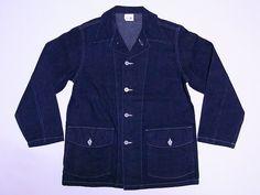 【楽天市場】Buzz Rickson's[バズリクソンズ] カバーオール ワークジャケット 10oz. DENIM WORKING JACKET BR12685A (NAVY) 送料無料 代引き手数料無料 【RCP】:American Clothing Cream