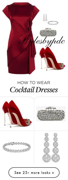 """Holiday Style"" by stylesbypdc on Polyvore featuring Karen Millen, Alexander McQueen, Blue Nile and Maria Canale"