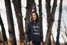 tentree clothing || they plant ten trees for each item you buy Cold Weather Outfits, Trees To Plant, Wander, Environment, Bomber Jacket, Textiles, Organic, Hoodies, My Style