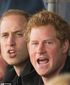 Prince William, Duke of Cambridge and Prince Harry watch the athletics at Lee Valley Track during the Invictus Games