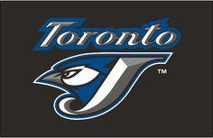Toronto Blue Jays Batting Practice Logo - (BP) Toronto script above J/jay logo on black Toronto Blue Jays Logo, Baseball Teams, Word Mark Logo, Bird Logos, Jay Bird, Sports Logos, Teen Bedroom, Man Cave, Team Logo
