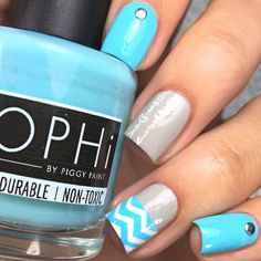Beautiful Nail Design by @nailsbyteens featuring SOPHi's Pretty Shore About You