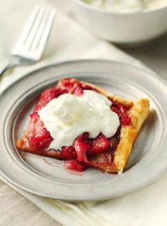 This strawberry tart is the perfect after dinner dessert.