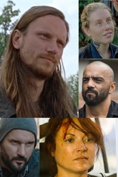The Saviors- Jared (large pic), Laura (top right), Gary (Middle right), Isabelle (Bottom right), Roy (Bottom Left)