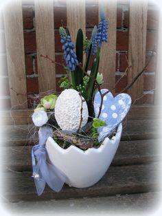 Tischgesteck im Ei von Florentine auf DaWanda.com