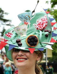 Happy Mad Hatter's Day followers of eclectic and Avant Garde fashion fun Royal Ascot 2011