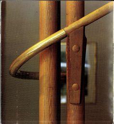 Alvar Aalto: Villa Mairea, Noormarkku, Finland, 1938. Detail, main staircase, pine & brass.