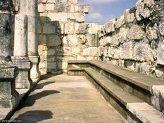 Inside the synagogue of Jesus at Capernaum, Israel. Israel Travel, Israel Trip, Places To See, Places Ive Been, Monuments, Naher Osten, Israel History, Visit Israel, Site Archéologique