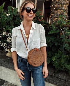 Woven bags for the win #styleideas #fashion #styleinspiration #outfits