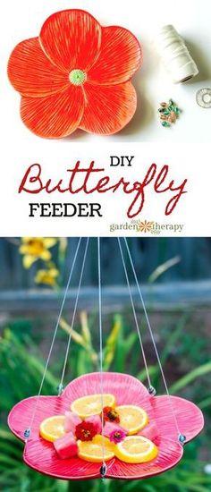 DIY Butterfly Feeder - Garden Therapy