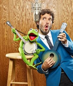 Bret McKenzie (and Kermit, of course) - one half of Flight of the Conchords and proud Oscar winner for his song 'Man or Muppet?'