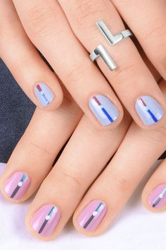 Incorporate your 'something blue' in your wedding day manicure! Incorporate your 'something blue' in your wedding day manicure! Bridal Beauty, Wedding Beauty, Bridal Makeup, Wedding Day Nails, Wedding Nails Design, Beauty And The Best, Something Blue, Trendy Wedding, Manicure