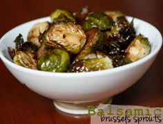 Balsamic Brussels Sprouts   #TheSugarFreeFairy