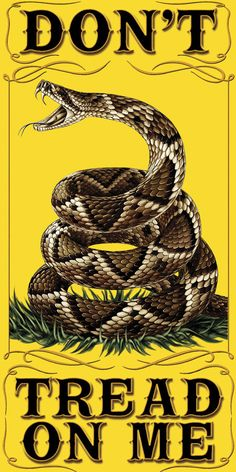 """Beautiful """"Don't Tread on Me"""" Towel! - FREE Shipping! - Show Off Your American Pride with this! - 30 inches x 60 inches - 400 gram towel Note: There are no returns on towels                                                                                                                                                                                 Mais"""