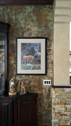 Wall Treatment with Modern Masters Metal Effects | By artist Leanne Lee of Rekindled Spaces http://rekindledspaces.com/