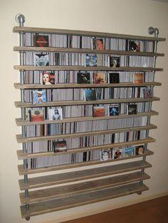 GISS design - CD rack, CD rack, scaffolding tube, and Kee Klamp fittings
