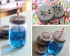 Darling Mason Jar Drinking Lids - Set of 6 Lids! at VeryJane.com