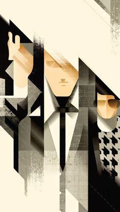 Art Deco Inspired Illustrations by Mads Berg (b. Denmark) - New Deco of Twenty-first Century. Moda Art Deco, Art Nouveau, Art Deco Stil, Graphic Art, Graphic Design, Art Deco Illustration, Kunst Poster, Art Deco Posters, Art Graphique