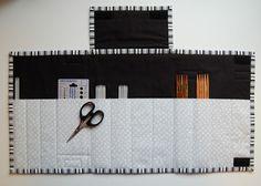 Mønster på strikkepinnemappe - Epla Sewing, Diy, Dressmaking, Couture, Bricolage, Stitching, Do It Yourself, Sew, Homemade