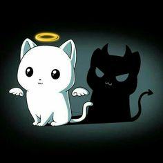 cute and funny art Purr Evil (Black) shirt TeeTurtle Pet Anime, Anime Animals, Cute Animals, Cute Animal Drawings, Kawaii Drawings, Cartoon Drawings, Animes Wallpapers, Cute Wallpapers, Chibi