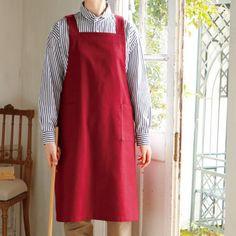 長めの丈で普段使いにぴったりな手作りエプロンの作り方(布小物) | ぬくもり Sewing Crafts, Apron, Fashion, Patterns, Dressmaking, Fabric, Moda, Fashion Styles, Fashion Illustrations