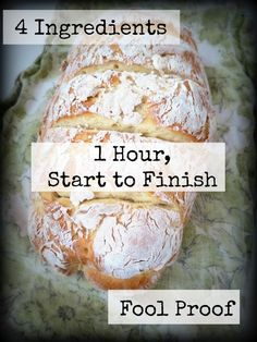 Foodie Fridays: Easy Peesy French Bread Four Ingredients, Practically No Kneading, One Rise, No Bread Machine, FOOL PROOF! - My Mundane and Miraculous Life