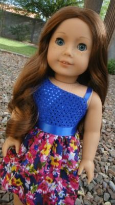 One Shoulder Dress Tutorial for American Girl Dolls | Sew Adollable